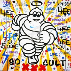 INCREVABLE - Peinture,  120x120 cm ©2013 par DAVID KARSENTY -                            Peinture contemporaine, SO CULT, DAVID KARSENTY, LE HAVRE, ART, ARTISTE, POP, POP-ART, STREET-ART, ARTCONTEMPORAIN, FRANCE