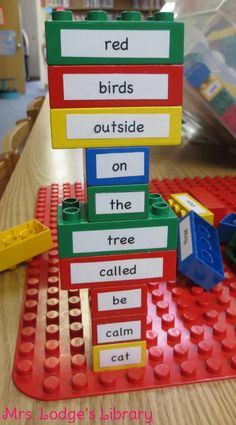 LEGO POETRY!  http://www.mrs-lodges-library.com/2013/09/lego-poetry/#.UnYMHXBHL9h