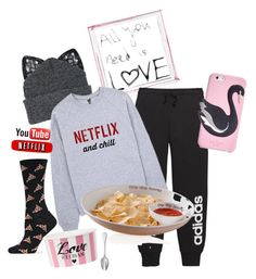 """""""""""My"""" kind of Movie Date 🎥😜😄"""" by krgood7 ❤ liked on Polyvore featuring Polaroid, Silver Spoon Attire, adidas, HOT SOX, Mud Pie, Kate Spade and Couzon"""