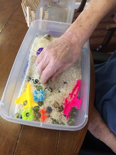 Sensory box - find the pieces #dementia