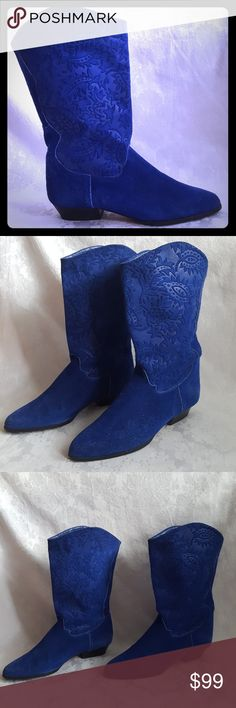 0d8d08d4471 Spotted while shopping on Poshmark  RARE! 1980 s Italian Royal Blue Suede  Boots!  poshmark  fashion  shopping  style  Maria Jose  Shoes