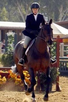 Famous faces- Portia de Rossi competing in Santa Barbara, CA.