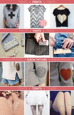 DIY Ideas: 17 Fashionable Makeovers I think I will start personalizing all my clothes