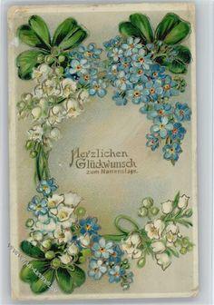 und Maiglöckchen Kranz, litho: Ansichtskarten-Center Onlineshop