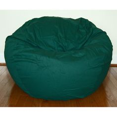 Ahh Products Dark Green Cotton Twill 36 Inch Washable Bean Bag Chair