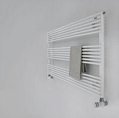 Hot water towel radiator / horizontal / steel / wall-mounted BASICS: RITMATO 14 TUBES