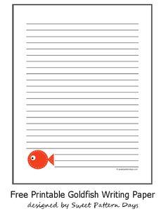 Cute Goldfish Writing Paper