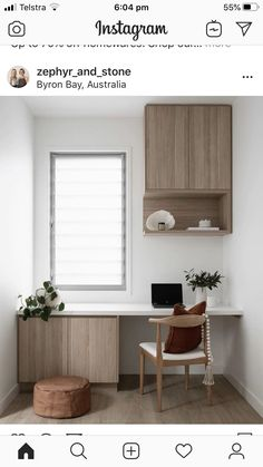 Design, Styling + Reno Tips ( Home, Small Spaces, Built In Dressing Table, Home Office Design, Furniture, Interior, Desk Dimensions, New Room, Office Design