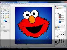 Gimp Tutorial - Drawing with paths tool - YouTube