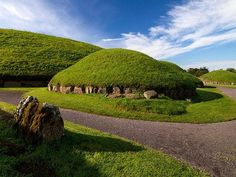 Knowth in Boyne Valley, Ireland, 3200BC contains more prehistoric art than any other site in Ireland.