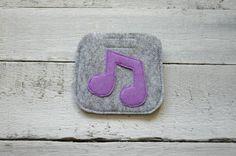 Earphone case, earbud case, cable holder, headphone case, felt pouch, phone accessories, earphone organizer, small gift idea