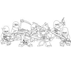 Free printable lego ninjago coloring pages PDF File This series
