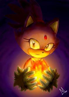 Blaze the Cat by SEGA Art by