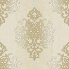 Rasch Tapete Deha 006425 Rasch Textil Vinyltapete Ornament creme beige glitzer in Heimwerker, Farben, Tapeten & Zubehör, Tapeten | eBay