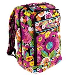 Black Friday Vera Bradley Laptop Backpack in Va Va Bloom from Vera Bradley Cyber  Monday Vera ffffbac919411
