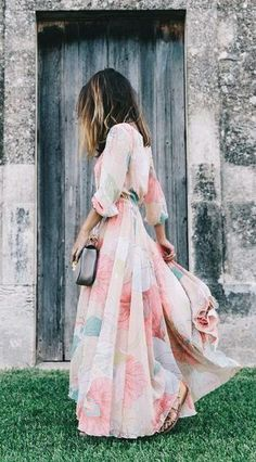 beautiful maxi dress for summer, spring.