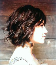 contemplating a new hairstyle— wavy bob