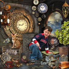 Credits: Steampunk Time Kit created by LouiseL is available at: Digital Crea, My Memories, E Scape and Scrap, Scrap from France, Scrap and Tubes and The Digital Scrapbook Shop