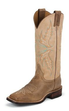 a0b7393785ea Justin Boots Women s U. Bent Rail Collection Boot Wide Square Double Stitch  Toe Performance Rubber Outsole