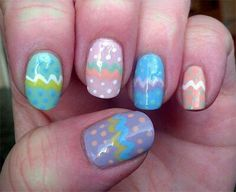 I am unfolding simple Easter egg nail art designs 7 ideas of 2014 for beginners. Make bright and flashy eggs on your nails to give an Easter feel to yourself. Nail Tip Designs, Easter Nail Designs, Nail Polish Designs, Art Designs, Pastel Nail Art, New Nail Art, Pastel Pink, Spring Nail Art, Spring Nails