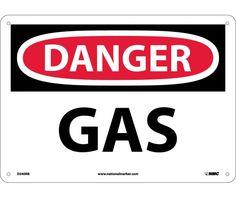Danger, GAS, 10X14, Rigid Plastic