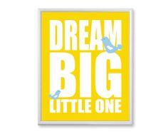 Boys Nursery Art Print Dream Big Little One by PaperPlanePrints, $25.00