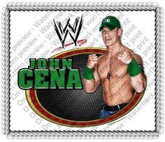1/4 Sheet ~ John Cena WWE Wrestling ~ Edible Image Cake/Cupcake Topper!!! *** Save this wonderfull product : baking decorations