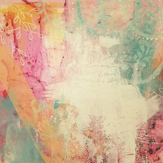 Fine art stretched canvas print Summer honey 12x12 by missymuh, $130.00