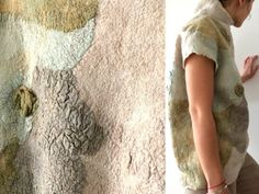 Felted wool, Women light grey nuno felt top,  Wearable Art Clothing, felted blouse, wool Top, Designer Blouse, Hand made, Multicolorsweater by IaArtStudio on Etsy