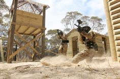Slide into paintballing! Vietcong village in our paintball centre in Monarto, Australia! #paintball