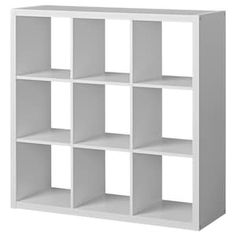 IKEA - KALLAX, Shelf unit, white, , Choose whether you want to place it vertically or horizontally to use it as a shelf or sideboard. Ikea Storage Shelves, Ikea Kallax Shelf Unit, Wall Shelf Unit, Wall Shelves, Storage Cubes, Shelving Units, Storage Organizers, Ikea 9 Cube Storage, Office Storage