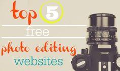Top 5 free photo editing websites.