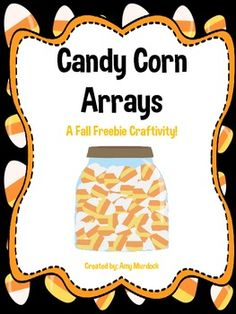 Here's a fun fall themed freebie that incorporates some math skills! This  craftivity includes templates to have your students create candy corn arrays for multiplication facts or to use to practice  fractions. I've included directions on how to assemble the jars for either skill.
