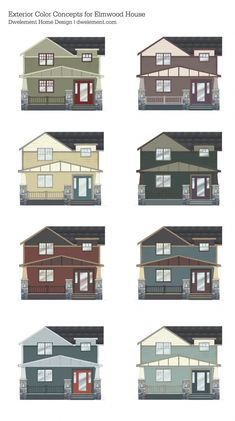 2014 exterior shutter and door paint schemes record the colors
