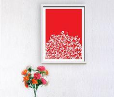 Red Birds Print