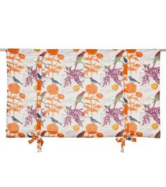 Tropiikki-laskosverho, valko-oranssi-fuksia Curtains, Shower, Prints, How To Make, Rain Shower Heads, Blinds, Showers, Draping, Net Curtains