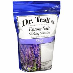 """Dr. Teal's Epsom Salt Soaking Solution, Sleep, Lavender"" Felt so relaxed after a bath with this and my legs weren't sore/tight anymore from my run. BB"