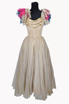 """Mitzi Gaynor """"Lotta Crabtree"""" ivory dress designed by Charles Le Maire from Golden Girl"""