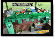 Minecraft Party Game Ideas: Musical Minecraft & Creating their own Character Face are my faves (though there's TONS of other Minecraft themed activities on this site which I'd love to do if I had more time to prepare).