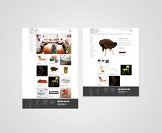 The Future Perfect Website by Michael Freimuth, via Behance