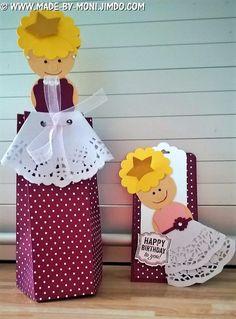 Punchboard für Geschenktüten, Wundertüte, made by moni