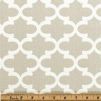 Quatrefoil Fabric Fulton French Gray made by Premier Prints Inc