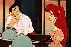 He is sweet on her Walt Disney, Disney Love, Disney Magic, Disney Art, Disney Names, Disney Songs, Mermaid Under The Sea, Ariel The Little Mermaid, Prince Eric