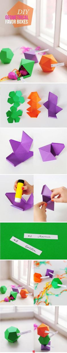 Make A Geometrical Favor Boxes well not exactly origami, but pretty! Do It Yourself Projects, Cool Diy Projects, Craft Projects, Diy And Crafts, Crafts For Kids, Arts And Crafts, Craft Gifts, Diy Gifts, Diy Paper