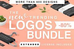 Huge Trending premade Logos Bundle by Davide Bassu on @creativemarket