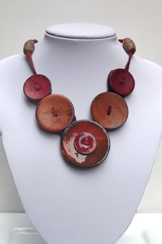 Items similar to Button Necklace, Button Jewelry, Button Jewellery, handmade button, button statement necklace, Big button. on Etsy More