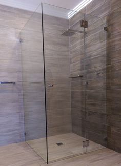 Custom Cut Frameless Shower Screens Sydney Palmers Glass - Quality like This Can Only Be Achieved with Experience and a Passion for Excellence Bathroom Renos, Laundry In Bathroom, Bathroom Layout, Bathroom Renovations, Bathroom Interior, Small Bathroom, Bathroom Showers, Bathroom Designs, Frameless Shower Enclosures