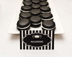 Black Tie Macarons Recipe — Dishmaps