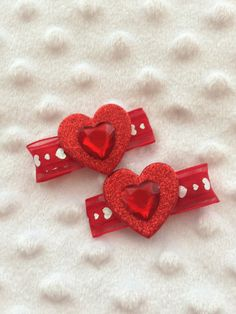 Hearts Hair Clips by WiddleWonders on Etsy, $5.50