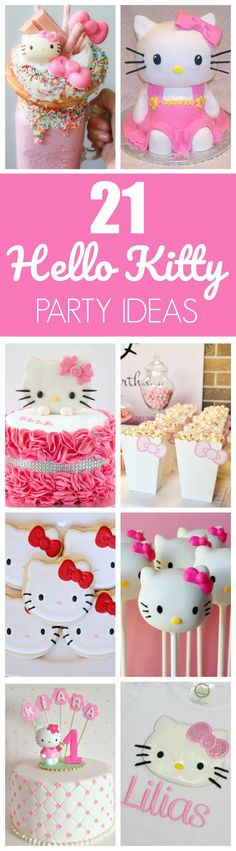 21 Hello Kitty Birthday Party Ideas featured on Pretty My Party
